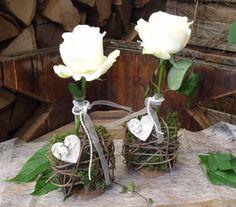 """2-er Set """" Tischdeko Hochzeit """" von DIE LILA VILLA auf DaWanda.com"""