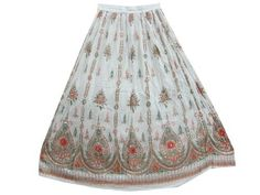 Retro Hippie Skirt White Long Skirts Designer Sparkly Sequin Peasant Skirt 36 Mogul Interior, http://www.amazon.com/dp/B009PWSW2C/ref=cm_sw_r_pi_dp_WmrEqb11EXEP4$24.99