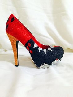 All Shoes are decorated to order. Shoe styles and heel height are subject to change depending on availability. Style and height can also be
