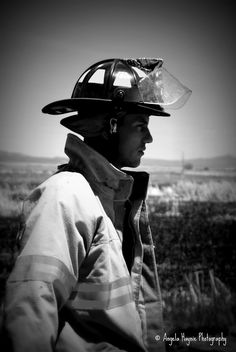 A handsome firefighter. Alamosa, CO. © Angela Haynie Photography