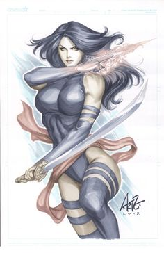 Stanley (Artgerm) Lau - Psylocke, in Dave Price's Commissions Comic Art Gallery Room - 1025564