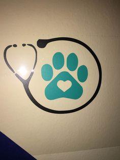 Vet Tech / Assistant | Vinyl Decal | Veterinary Medicine | Technician | Pets | Vet Tech Appreciation Week | Gift by GlassyWitch on Etsy https://www.etsy.com/listing/464762464/vet-tech-assistant-vinyl-decal