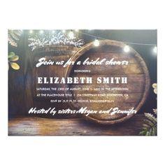 #bridal #shower #invitations - #Rustic String Lights Baby's Breath Bridal Shower Card