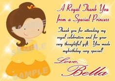 Belle Princess Birthday Party Invitation