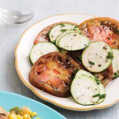 Heirloom Tomato and Zucchini Salad | CookingLight.com #myplate #veggies #fruit
