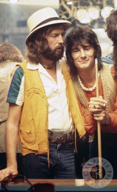 Eric Clapton & Ronnie Wood. http://www.pinterest.com/jr88rules/eric-clapton/ #EricClapton