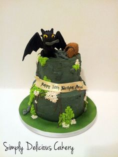 Toothless - by simplycakes @ CakesDecor.com - cake decorating website