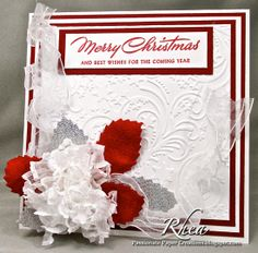 Heat Setting Ribbon for an Easy to Make Christmas Card