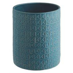 "My ""TIA"" Blue textured ceramic vase Vase With Lights, Glass Ceramic, Vases Decor, Soft Furnishings, Home Living Room, Kitchen Interior, Handicraft, Habitats, Home Accessories"