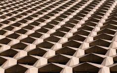 Alexander Jacques transforms architectural facades into abstract patterns #dezeen