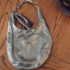 Whiting and Davis Pewter Mesh Shoulder bag Stunning by HappyLilac