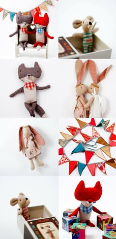 New toys from Maileg! Little People, Little Ones, Scandinavian Toys, Franck Fischer, Sewing Projects, Projects To Try, Deco, Crochet Bear, Fabric Dolls