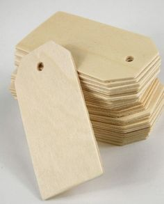 5.99 SALE PRICE! These simple cards can be utilized in a myriad of ways, including as gift tags and guest placement cards. Use the Wood Tags in crafts by pai...