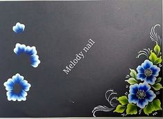 Uñas One Stroke, One Stroke Nails, One Stroke Painting, Colorful Nail Art, Floral Nail Art, Arte Floral, Simple Acrylic Paintings, Acrylic Painting Techniques, Cool Nail Designs