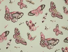 Jim Thompson wallcovering. Butterfly House. Collection: Pagoda & Palms. Available at Fox Linton.