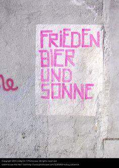 Foto 'FRiEDEN BiER UND SONNE' von 'knallgrün'