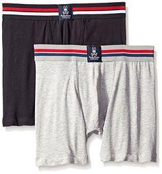 16cbeea3d8d8e5 Psycho Bunny Men's 2-Pack Motion Cotton Boxer Briefs at Amazon Men's  Clothing store: