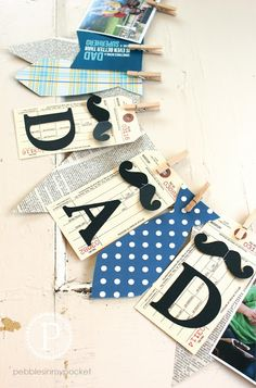 Father's Day Memory Banner in a quick and easy kit! Add favorite pictures of the men in your life to make it your own :)