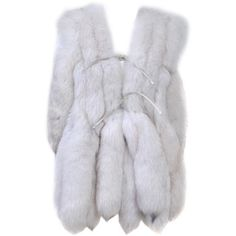 WHITE FOX VEST WITH TAILS ❤ liked on Polyvore featuring outerwear, vests, jackets, coats, fur, vest waistcoat, fur vest, white vest, fox fur vest and white waistcoat