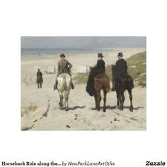 Breitner, Ruiters op het strand op canvas.  George Hendrik Breitner, Horseback Ride along the Beach - Art Canvas   #Rijksmuseum #Amsterdam #Breitner #Art #Gift #ArtGift #Canvas #HomeDecor #FineArt #schilderij #painting #Scheveningen #DenHaag #beach #horses