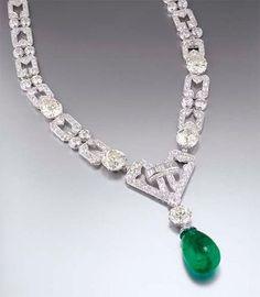 Chaumet 1930's art deco necklace   Christie's Hong Kong, Sale 2313 Lot 2583
