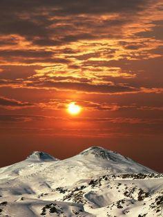 Mount Elbrus, the highest peak in Russia