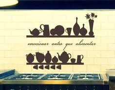. Vinilo Decoración Cocinas emocionar antes que alimentar 02753