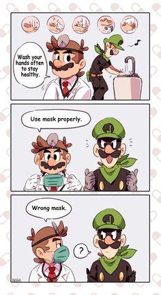 New Super Mario Bros, Super Mario Art, Super Mario World, Super Mario Brothers, Super Smash Bros, Cartoon Video Games, Retro Video Games, Mario Funny, Mario Comics