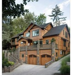 Fab log cabin-style house