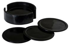 Thirstystone Black Soapstone Coaster, Set of 6 ** Awesome product. Click the image : Coasters Home Decor