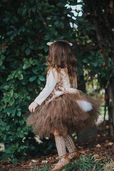 Deer Tutu Skirt Brown Tutu Halloween Tutu Halloween Skirt   Etsy Deer Halloween Makeup, Halloween Skirt, Tutu, Flower Girl Dresses, Couture, Wedding Dresses, Brown, Skirts, Etsy