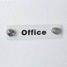 Amazon.com : Acrylic Sign Holder with Standoff, Clear or Frosted (2 x 8, Clear) : Office Products