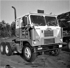 Millions of Semi Trucks: Photo Vintage Trucks, Old Trucks, Western Star Trucks, White Crane, Truck Transport, White Truck, Abandoned Train, Cab Over, Semi Trucks