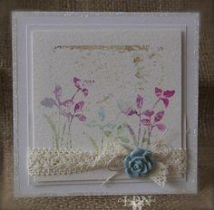 Delicate resist technique, handmade card