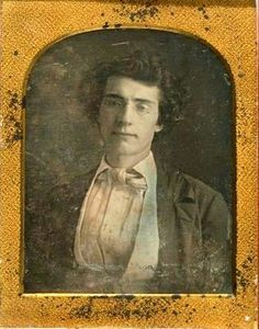 Everyone is young before being old: Matthew Brady...1840s. It is interesting that he learned his art from Samuel Morse. I have never seen a waistcoat like his that is folded  inward to form a collar.