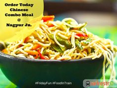 #FridayFunday: Everyone love Chinese & When it's #tgif / Friday it adds to lighten your mood further. Order Chinese Combo while traveling in train  at Nagpur India and Avail special discount offers on your orders from Railrestro. Call us for more info on 8102-888-111.
