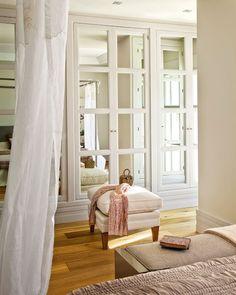 mirrored bedroom closet doors