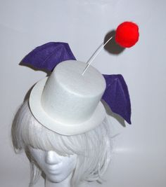 Moogle Mog Mogri  Final Fantasy Large Cosplay Top Hat by LollyMist, $34.00