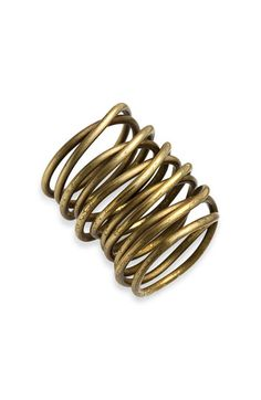 Kelly Wearstler Twisted Brass Ring from Nordstrom $135.  I like the idea of this but may not be able to wear something quite this freestyling.