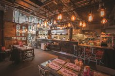 The interior designers from JMDA have created an interior 'as authentic as possible' for the new 'street food' Thai restaurant chain with an eclectic mixture of bespoke lightings from Northern Lights.