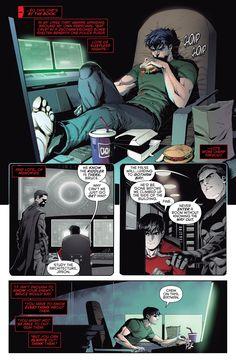 DC Bruce Wayne as Batman Training Past Jason Todd as Red Hood Batman Y Superman, Batman Comic Art, Batman Robin, Batman Arkham, Nightwing, Batgirl, Batman Training, Gotham Bruce, Comic Style