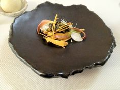 Spot prawn, lily flower, caviar. The Restaurant at Meadowood (St. Helena).