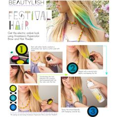 How to use go crazy for just a few days with hair chalk - great for festival hairstyles!