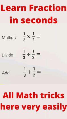 Math Fractions, Multiplication, Maths, Math For Kids, Fun Math, Math Skills, Math Lessons, Math Resources, Math Activities