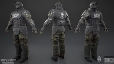 Some work I did for the PC game Moving Hazard. I was responsible for the creation of the characters textures and materials. For the ammo pickup I created the entire asset. All the content rendered in Unreal Engine 4.  Art Direction by Cole Gray