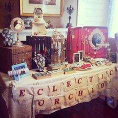 Display Idea Jewelry Show Craft Fair | Eclectic Orchid Jewelry display | Craft Show Booth Ideas