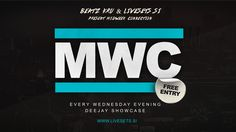 flyer for midweek connection - dj showcase and livestreaming event