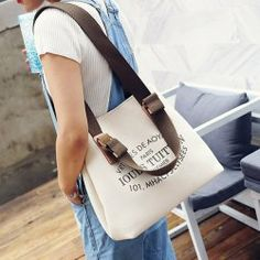19640e5cfb Canvas Magnetic Closure Letter Print Shoulder Bag. Fashion SaleFashion  OnlineBlack ...