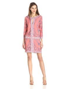 BCBGMax Azria Women's Calico Printed Shift Dress