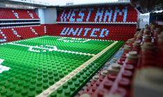 Lego West Ham Boleyn Ground West Ham, Lego, The Unit, Football, Soccer, Futbol, American Football, Legos, Soccer Ball
